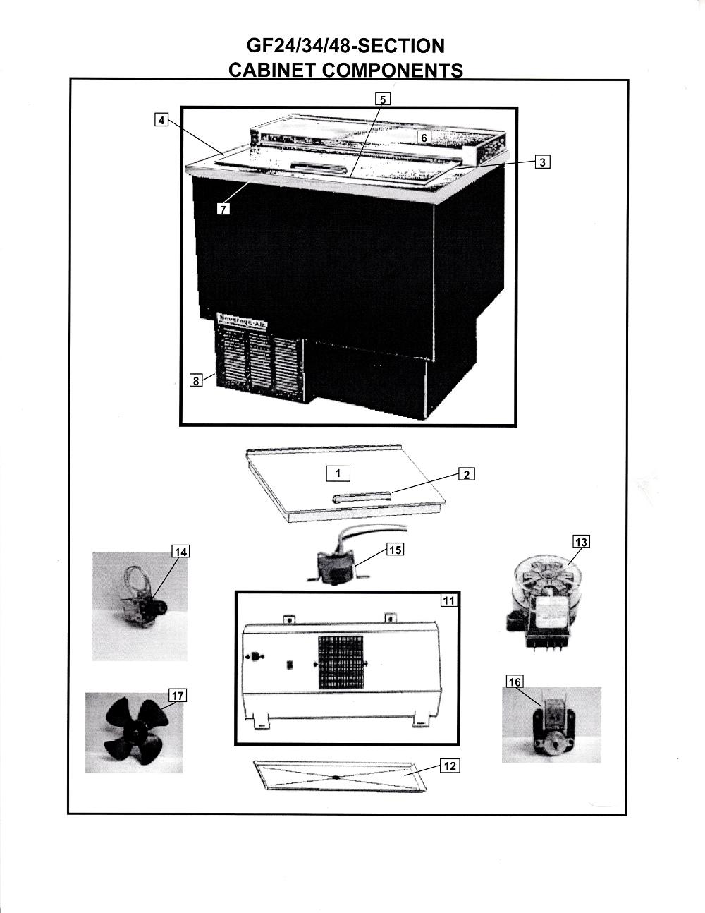 Beverage Air Repair Parts For Df24 34 48 Refrigeration