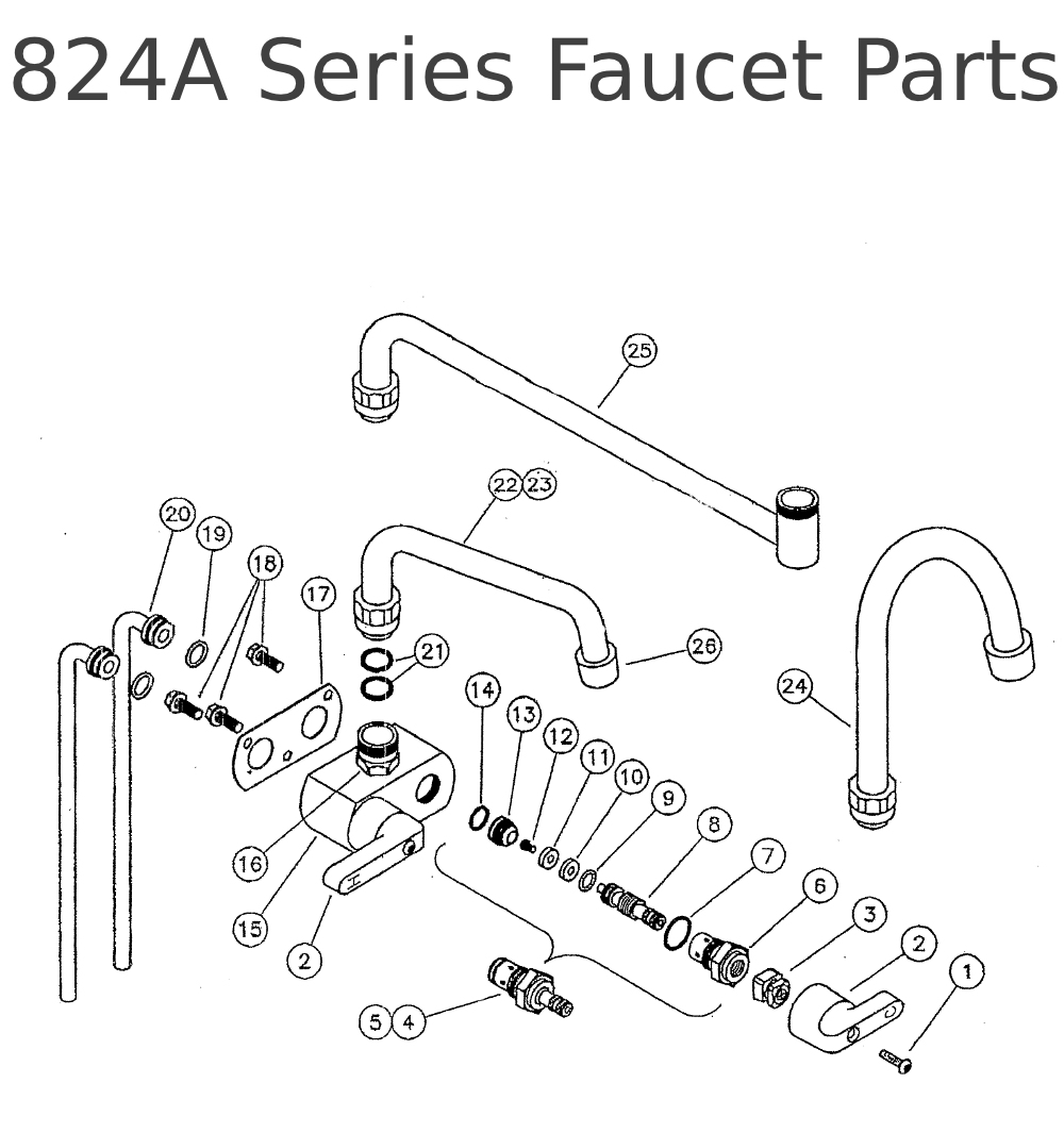 Bathtub Faucet Diagram also ments besides Pp Kitchen Faucet Repairparts Parisa in addition 621 En PP25571WH further Pp Kitchen Faucet Repairparts Ashfield. on shower water valve replacement