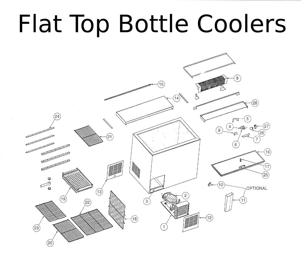perlick repair parts for flat top bottle coolers