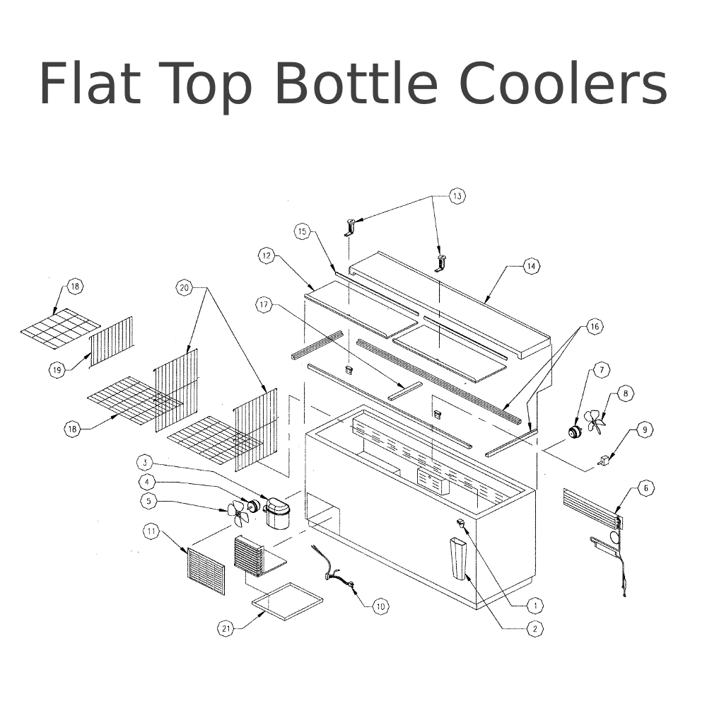 Perlick Repair Parts For Flat Top Bottle Coolers